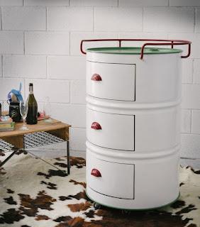 ตู้พร้อมลิ้นชักด้วยถัง 200 ลิตร