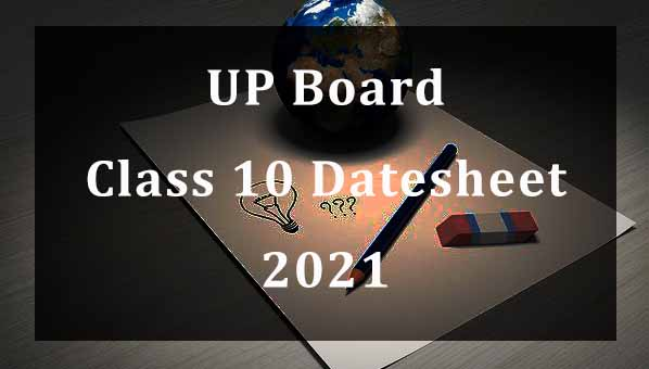 UP Board Class 10 Datesheet 2021 Download