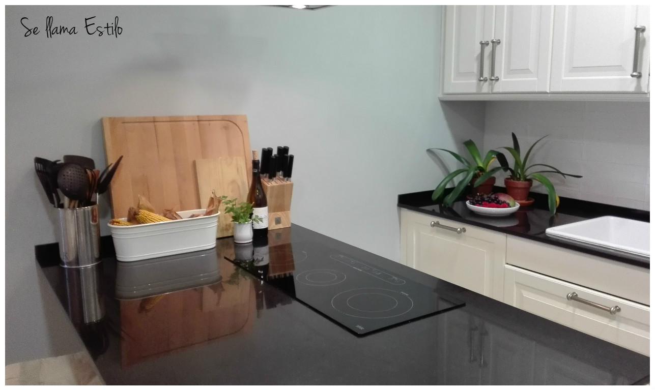 la cocina no es muy grande pero al ser abierta y tener la pennsula la vivimos ms la es alargada y estrecha para tener ms