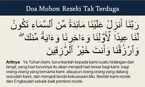 Doa Mohon Rezeki Tak Terduga