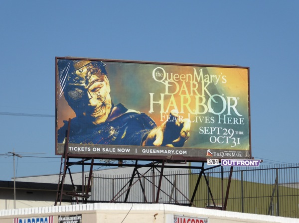 Queen Mary Dark Harbor billboard