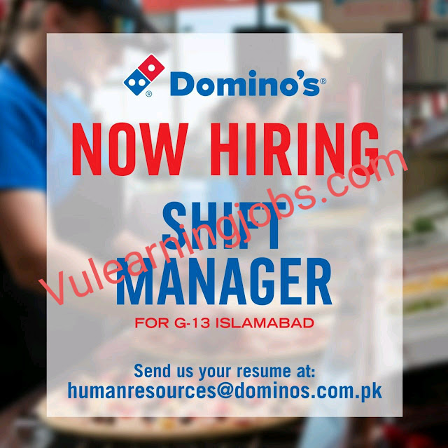 Dominos Jobs 2020 In Pakistan For Shift Manager Latest
