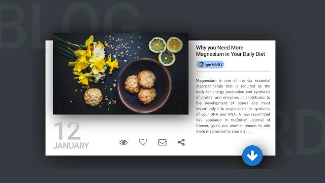 Blog Card UI Design