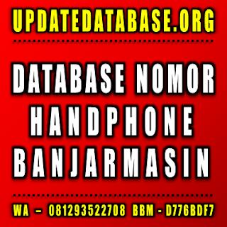 Jual Database Nomor Handphone Banjarmasin