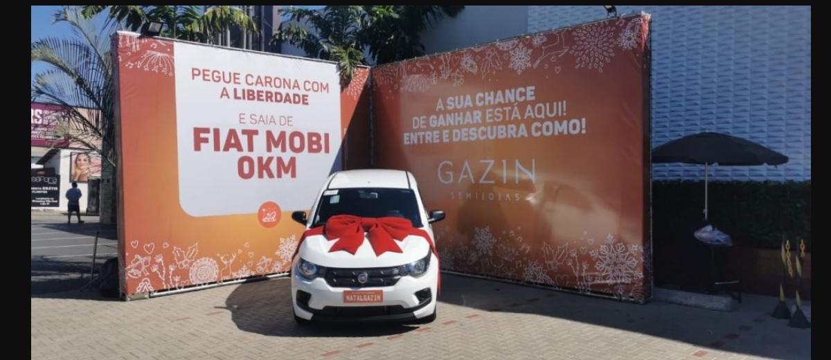 Promoção Gazin Semijoias 2020 Sorteio Carro 0KM Fiat Mobi De Carona com a Liberdade