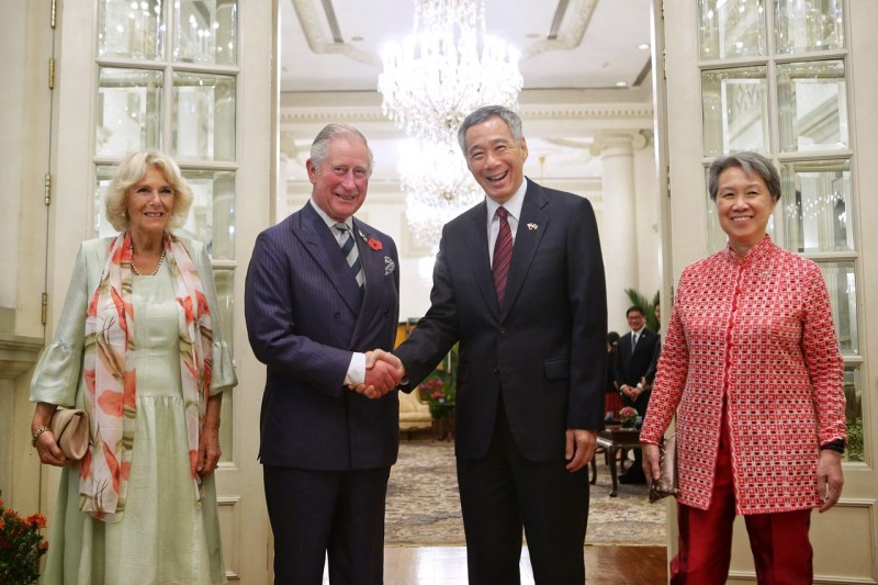 The royal couple also met Prime Minister Lee Hsien Loong and Mrs Lee at the Istana.