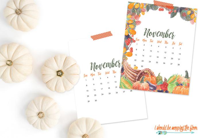 November Printable Calendars