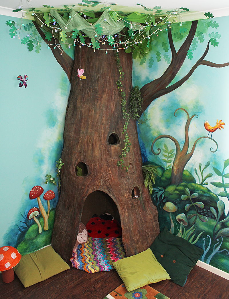 Jules Madden The Happy Forest Paper Mache Tree Project
