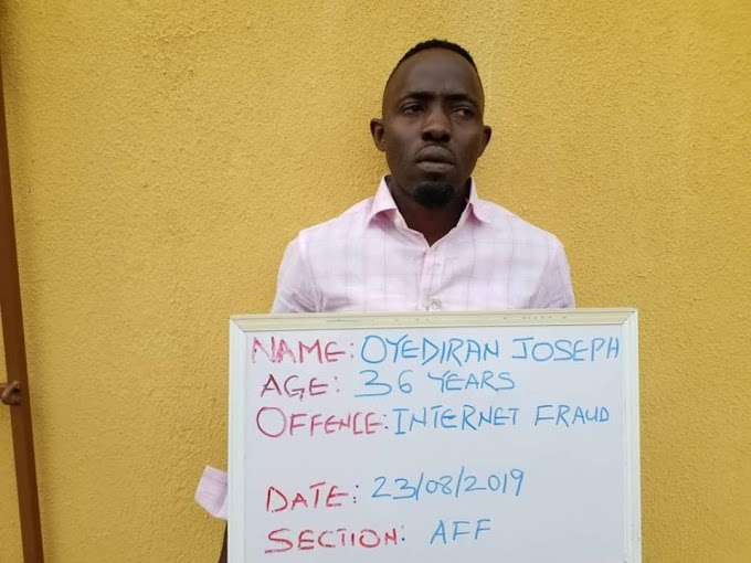 FBI suspect, Oyediran gets one year imprisonment