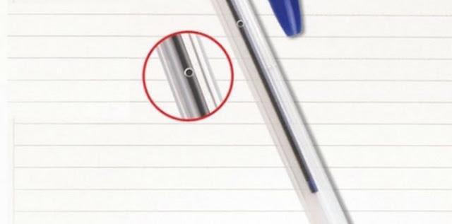 Saiba por que a caneta Bic tem um furo lateral