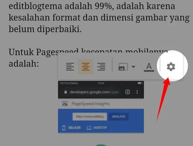 Pengaturan gambar agar halaman blog  menjadi SEO