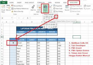 Cara membuat Button di Excel