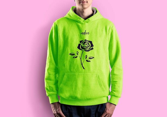 green vibrant hoodie