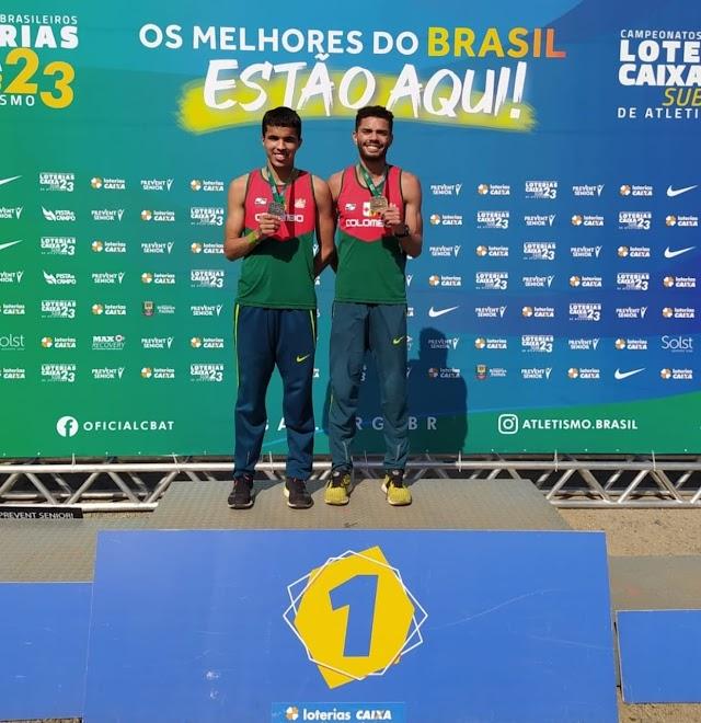 Atletas de Colombo ganham, Ouro, Prata e Bronze no Campeonato Brasileiro Loterias Caixa de Atletismo sub 23