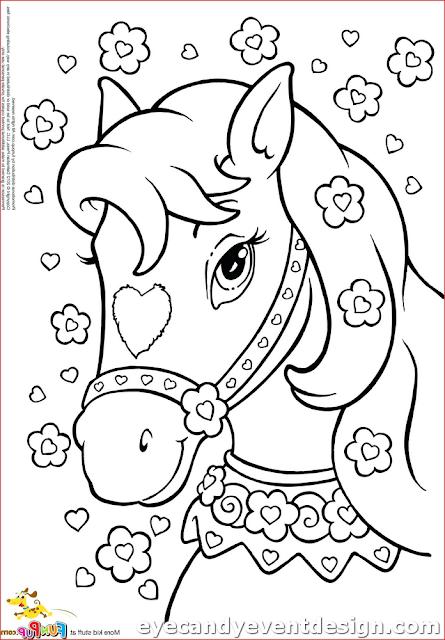Ausmalbilder Pferde Und Ponys Kostenlos