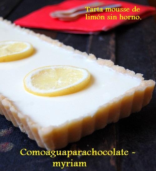 TARTA MOUSSE DE LIMÓN SIN HORNO 3