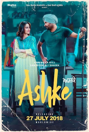 Poster Of Pollywood Movie Ashke 2018 300MB HDRip 480P Full Punjabi Movie