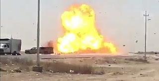 قيادة عمليات بغداد: تفجير سيارة مفخخة تحت السيطرة قبل دخولها من الأنبار