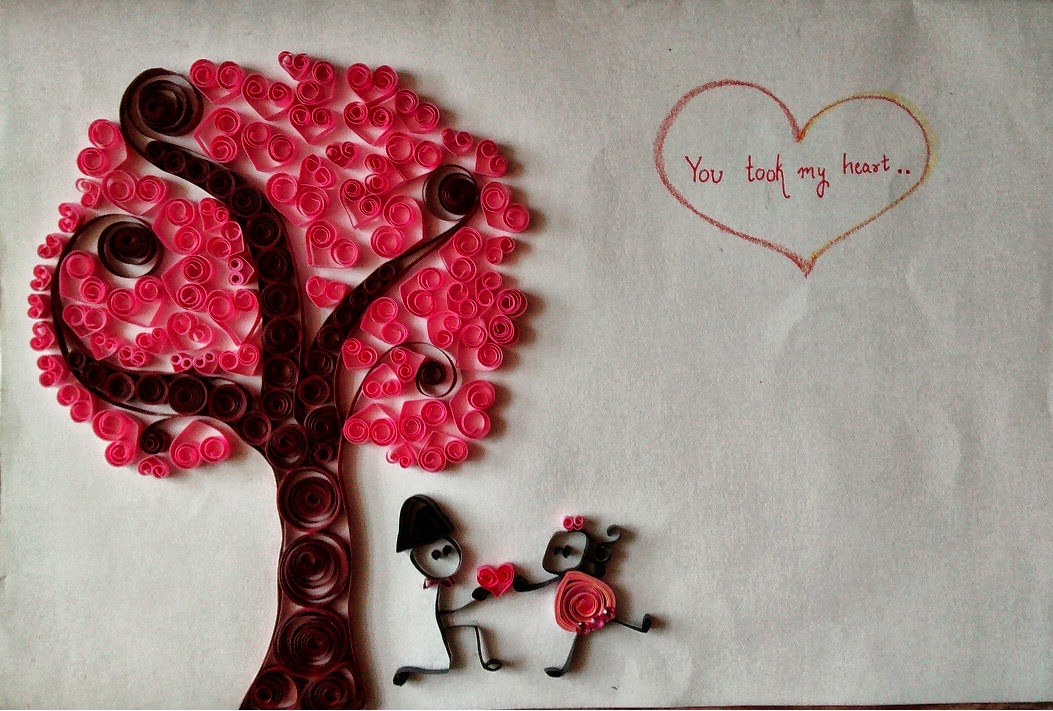 Crafts By Raina Valentine Day Paper Quilling Card