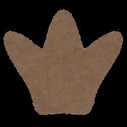 カピバラの足跡のイラスト(後ろ足)