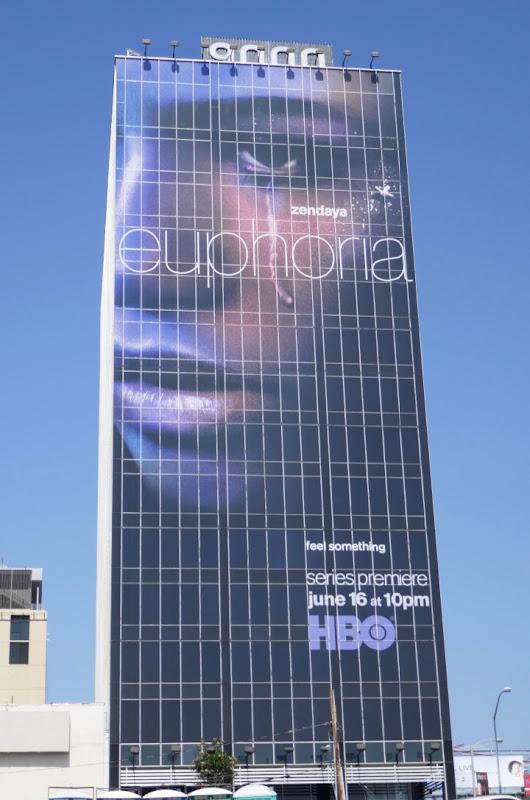 Giant Zendaya Euphoria HBO series billboard