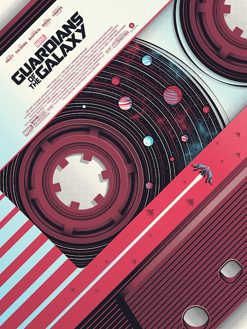 Marvel's Guardians of the Galaxy Movie Poster Screen Print by Guillaume Morellec x Bottleneck Gallery