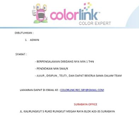 Karir Surabaya Terbaru di Colorlink Expert Desember 2019
