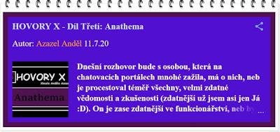 Hovory X - Anathema