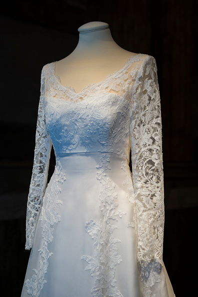 He Wedding Dress Of Princess Sofia Sweden Designed By Ida Sjostedt Is Seen On Display During An Exhibition At The Royal Palace October 17