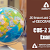 20 Important questions of Geography for CDS 2 2019