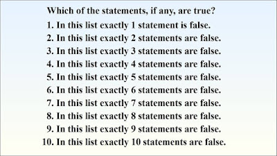 Logical thinking brain teasers to find true statement