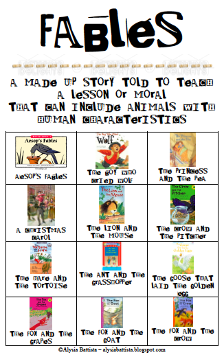 Characteristics Of Folktales Anchor Chart - Home Decor