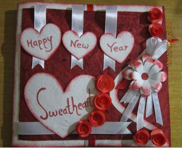 Happy New Year Greetings Card, Making new Year Card Idea ...