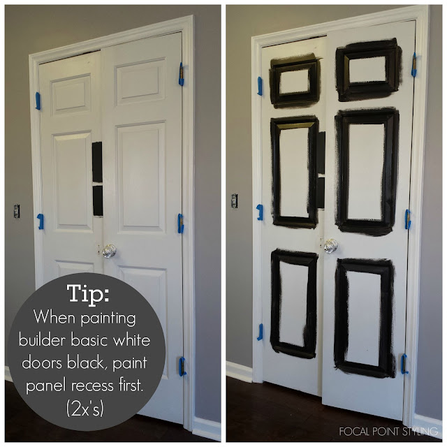 FOCAL POINT STYLING: How To Paint Interior Doors Black