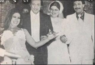 صور نادرة تجمع أحمد دياب وزوجته  قسمت وحماه رشدي أباظة