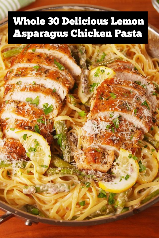 Whole 30 Delicious Lemon Asparagus Chicken Pasta Recipe | Chicken Pasta Recipe | Whole30 Dinner Recipe | Delicious Dinner Recipe | Weeknight Dinner Recipe | Spring Dinner Recipe | Asparagus Chicken Dinner Recipe #whole30recipe #whole30dinner #whole30 #dinner #dinnerrecipe #chickenrecipe #chicken #asparagus #springrecipe #pasta