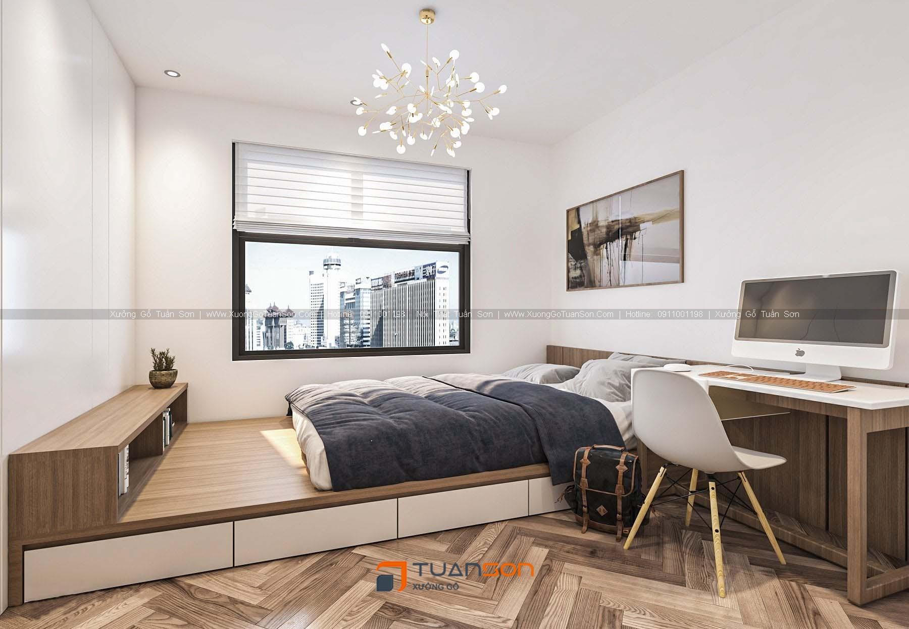 Thiết kế nội thất căn số 3 (98,6m2) 3PN Phương Đông Green Park