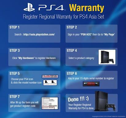Cara Daftar / Register Garansi PS4 Secara Resmi