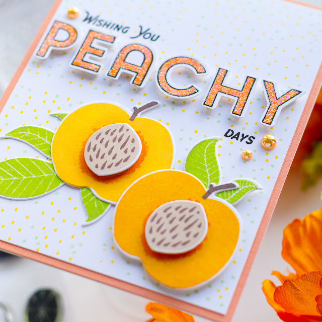 Berry Patch, Dashing Outline Fonts, Fruity, Flowering Petals, Fruity Friendship, Summer, Cards,Pigment Craft Co, Card Making, Stamping, Die Cutting, handmade card, ilovedoingallthingscrafty, Stamps, how to,