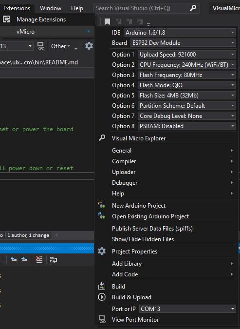 GoJimmyPi: ULX3S and Visual Micro in Visual Studio 2019