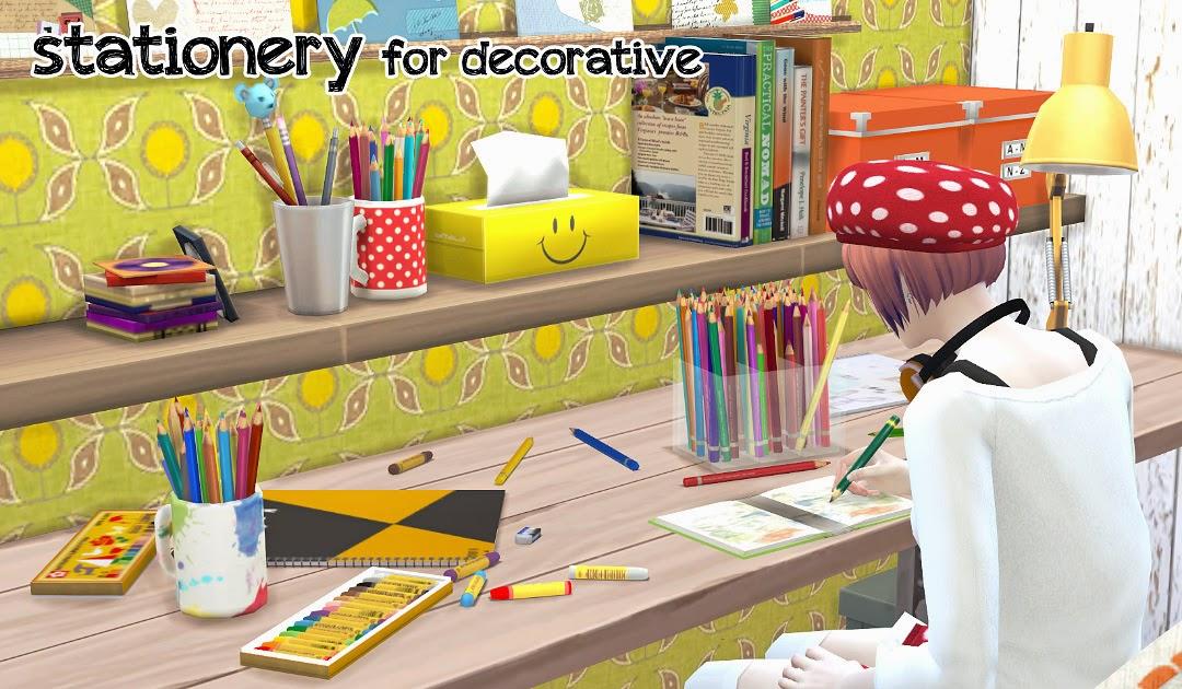 My Sims 4 Blog Decorative Stationery Set By Imadako