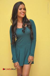Telugu Actress Prasanthi Stills in Green Short Dress at Swachh Hyderabad Cricket Press Meet  0048.JPG