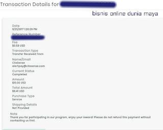 Bukti pembayaran ClixSense terbaru September 2017