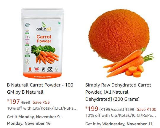 health benefits of carrot , carrot powder business, carrot powder