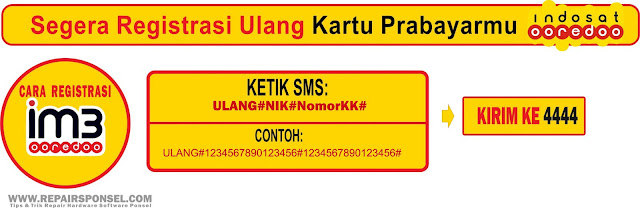 Cara Registrasi Ulang Kartu IM3 Ooredoo Sesuai KTP dan KK