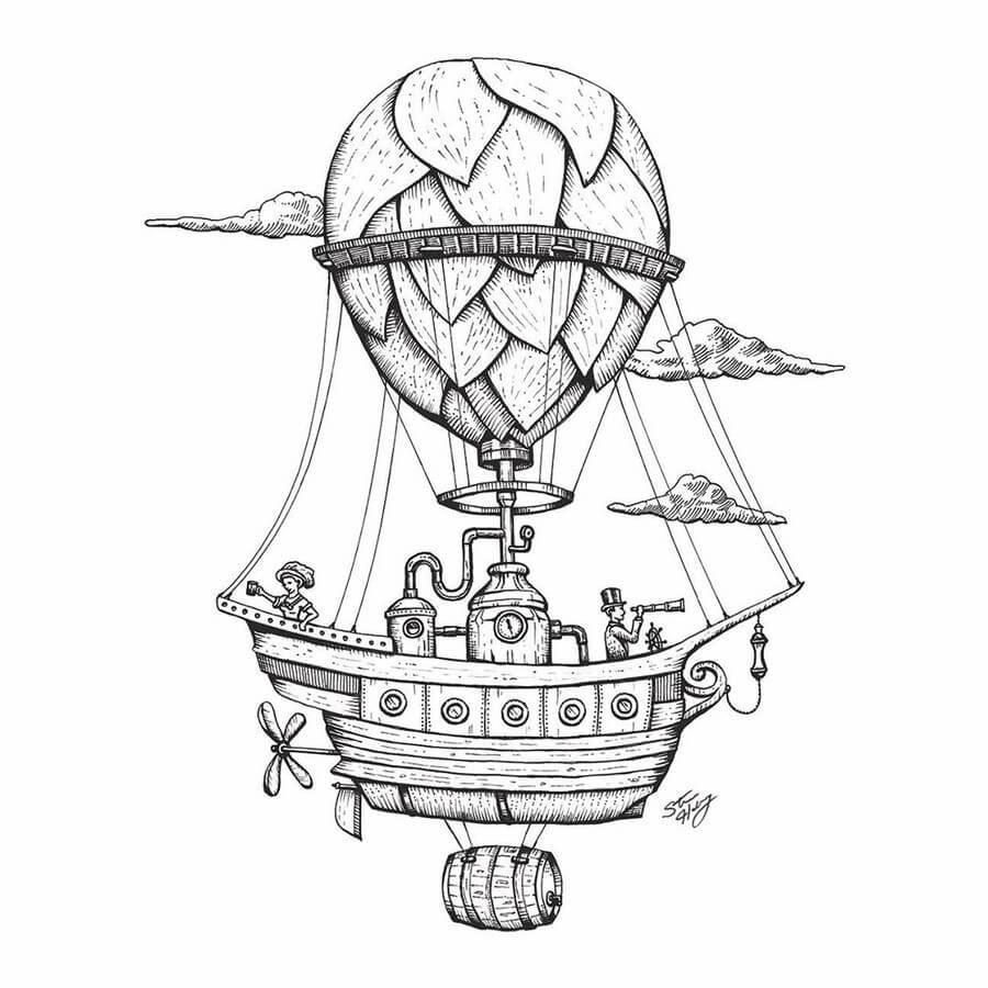 06-Steampunk-Hot-Air-Balloon-Steve-Habersang-www-designstack-co