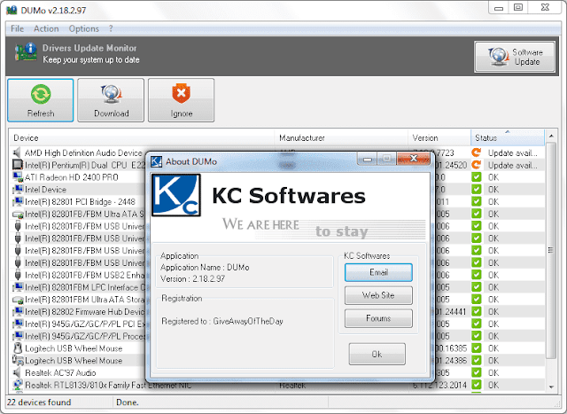 Screenshot KC Softwares DUMo Pro 2.18.2.97 Full Version