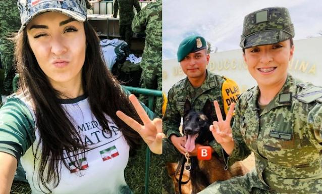 Renuncia la Oficial Alexa Bueno a la SEDENA tras denunciar acoso, famosa Youtuber e influencer