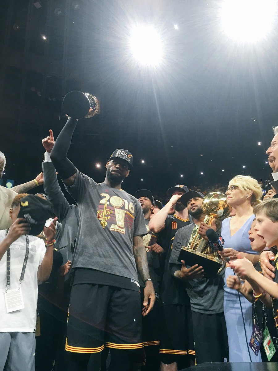 LeBron was named the Finals MVP