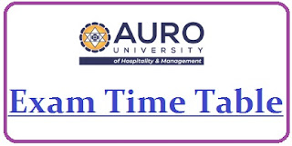 Auro University Exam Date Sheet 2020